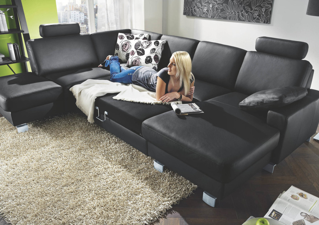 bellini bett leder schwarz polsterm belmarkt werne. Black Bedroom Furniture Sets. Home Design Ideas