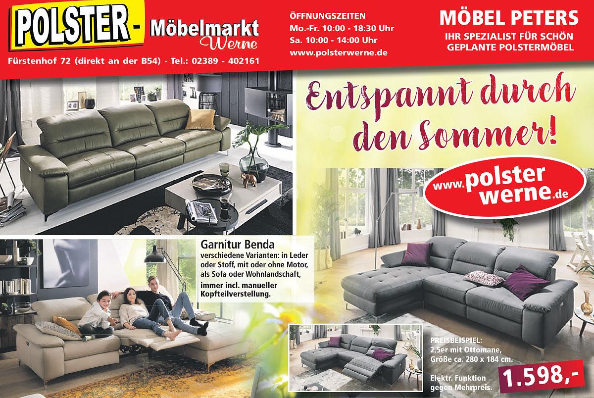 Entspannt durch den Sommer mit Polstermöbeln von Polster Werne